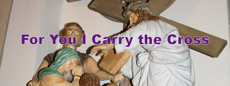 For You I Carry the Cross